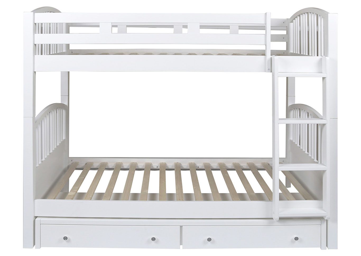 Bayfront White Twin Spindle Storage Bunk Bed,New Classic