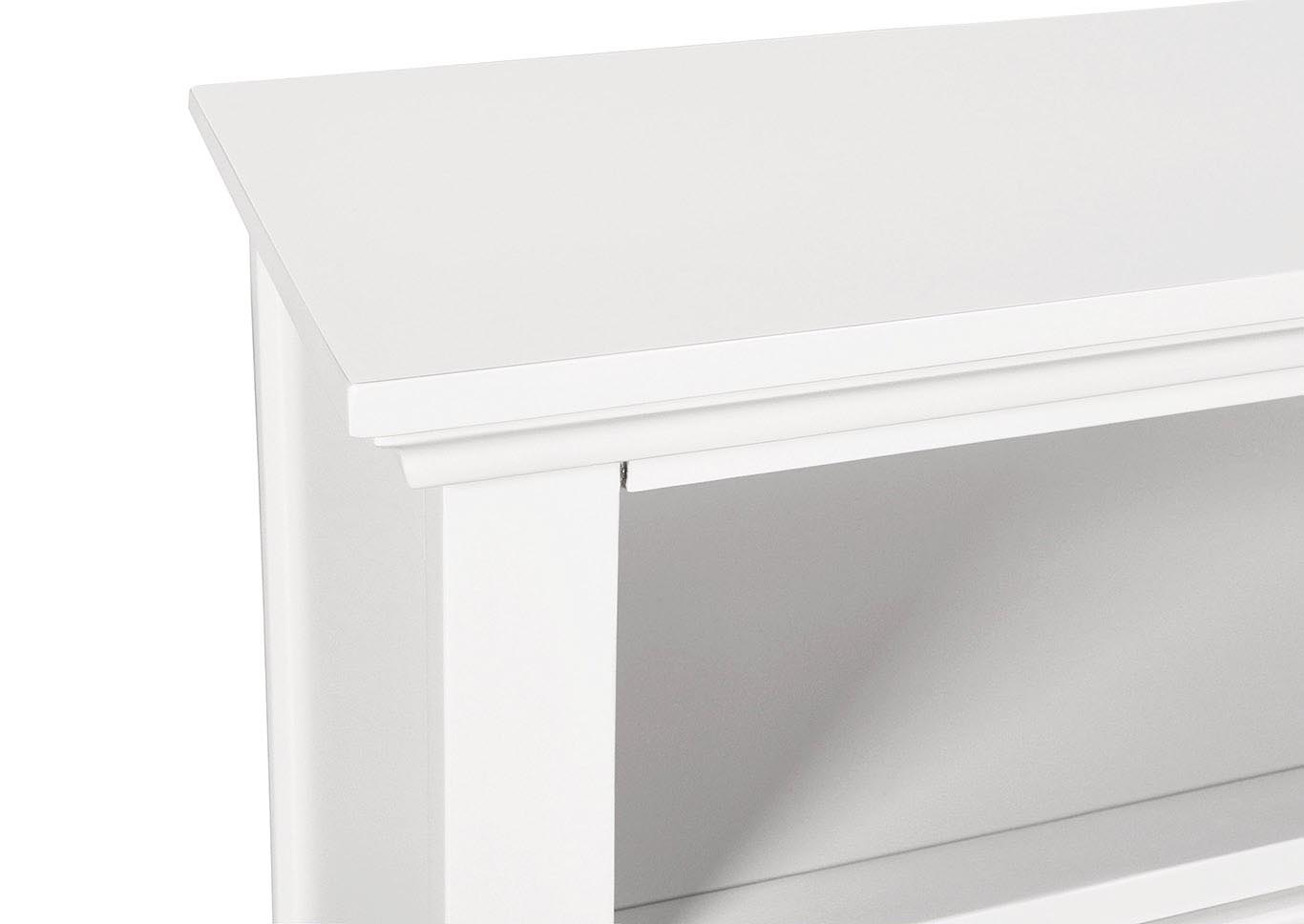 TAMARACK WHITE MEDIA CHEST,New Classic