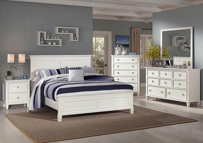Tamarack White Queen Panel Bed