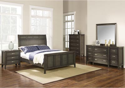 Richfield Smoke Full Panel Bed