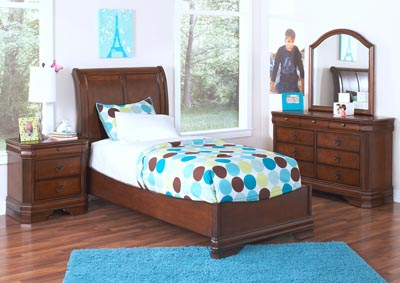 Sheridan Burnished Cherry Full Panel Bed