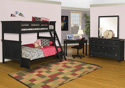 Tamarack Black Full Panel Bed