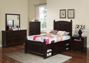 Canyon Ridge Chestnut Youth Dresser w/Mirror