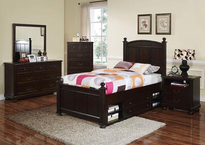 Canyon Ridge Chestnut Full Panel Bed w/Dresser and Mirror