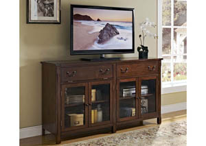 Corsica African Chestnut 52 Inch Entertainment Console