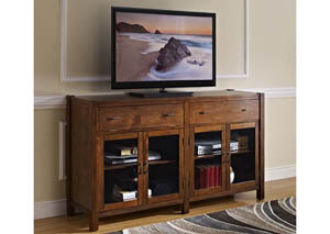 Giverny African Honey 52 Inch Entertainment Console