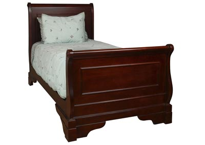 Versaille Bordeaux Full Sleigh Bed