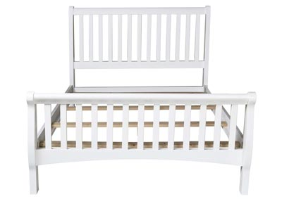 Bayfront White Full Sleigh Bed