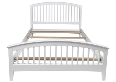 Bayfront White Full Slat Bed