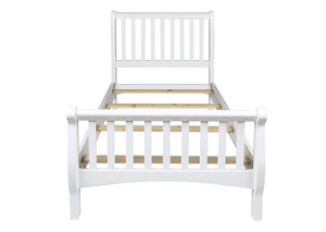 Bayfront White Twin Sleigh Bed