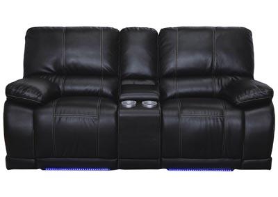 Gentil Electra Mesa Black Leather Dual Reclining Sofa