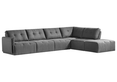 Colony Charcoal 5 Piece Sectional w/Ottoman