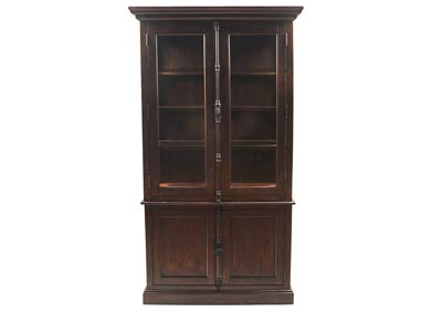Image for San Juan Aged Espresso China Cabinet