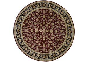 Image for Nourison Burgundy 8'x 8' Round Area Rug