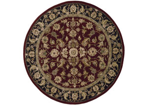 Image for Nourison Burgundy 4'x 4' Round Area Rug