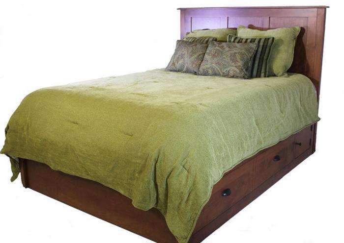 Elegance Platform King Storage Bed by Daniels Amish,Old Brick