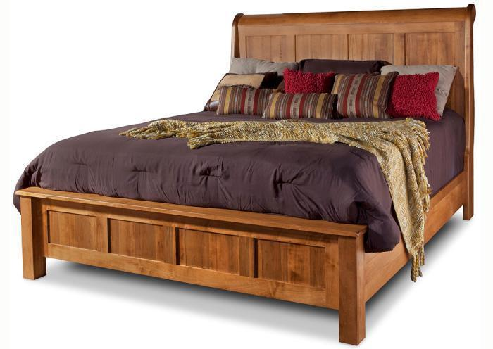 Lewiston Queen Sleigh Bed by Daniels Amish,Old Brick