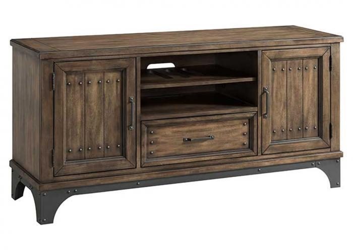 "WHISKEY RIVER 60"" CONSOLE by INTERCON, INC.,Old Brick"