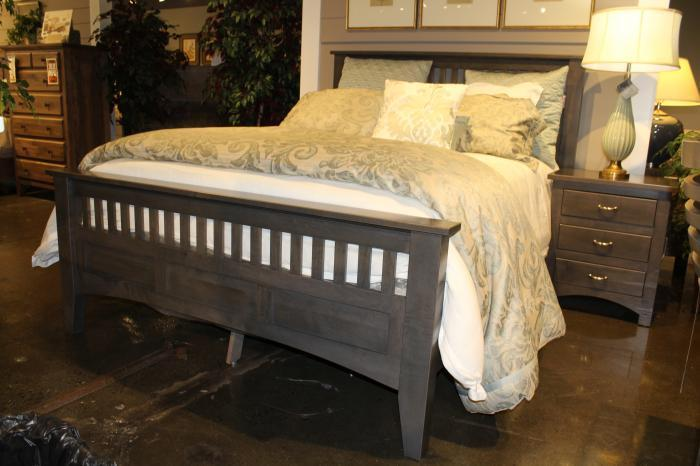 Siesta Mission Solid Maple Queen Bed by Troyer Ridge,Old Brick