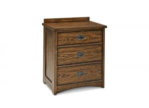 Oak Park Solid Oak Mission Nightstand by Intercon