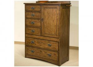 Image for Oak Park Solid Oak Mission Door Chest by Intercon