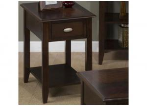 Image for Merlot Chairside Table For Small Spaces