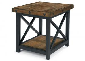 Image for Carpenter Rectangle End Table w/Metal Base