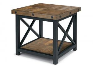 Image for Carpenter Square End Table w/Wood Plank Top
