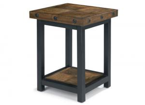 Image for Carpenter Chair Side Table w/Square Reclaimed Wood Top