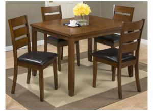 591 Plantation 5 Pc Set includes Dining Table & 4 Chairs