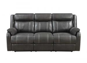 Domino Reclining Sofa w/Drop Down Table by Klaussner