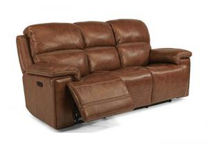 Fenwick Leather Power Reclining Sofa w/Power Headrest by Flexsteel