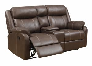 Image for Domino Reclining Console Loveseat by Klaussner