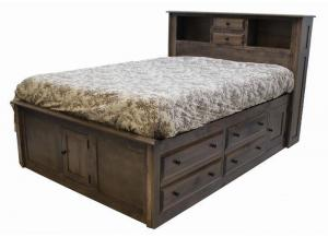 Image for Simplicity Queen Storage Bed w/Bookcase Headboard by Daniels Amish