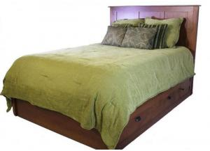 Elegance Platform King Storage Bed by Daniels Amish