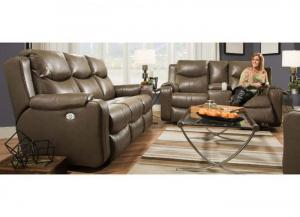 Image for MARVEL LEATHER RECLINER LOVESEAT by SOUTHERN MOTION, INC.