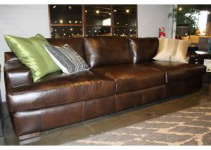 Image for Lyon Leather Sofa by Klaussner