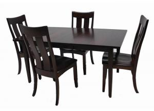 Arlington Solid Maple 5-Piece Dining Set by Trailway Amish