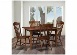 Freeport 5-Piece Solid Cherry Dining Set by Trailway Amish