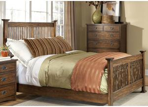 Oak Park Complete Queen Standard Slat Bed