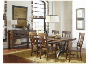 The District Solid Birch 7-Piece Dining Set by Intercon