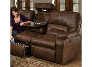 596 Reclining Sofa Lights/Massage/Table/Fridge by Franklin