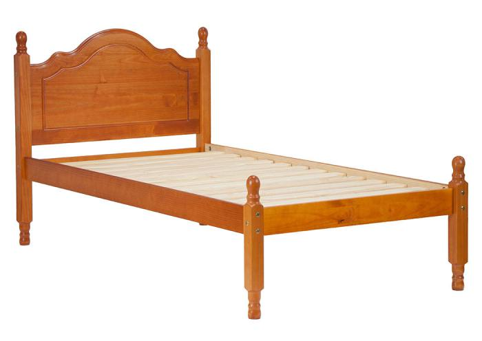 Reston Panel Bed, Twin Honey Pine,Palace Imports