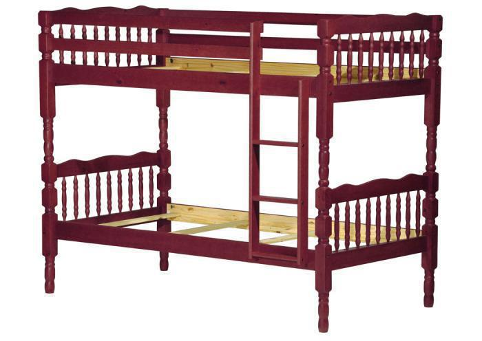 Arlington Twin/Twin Bunk Bed, Mahogany,Palace Imports