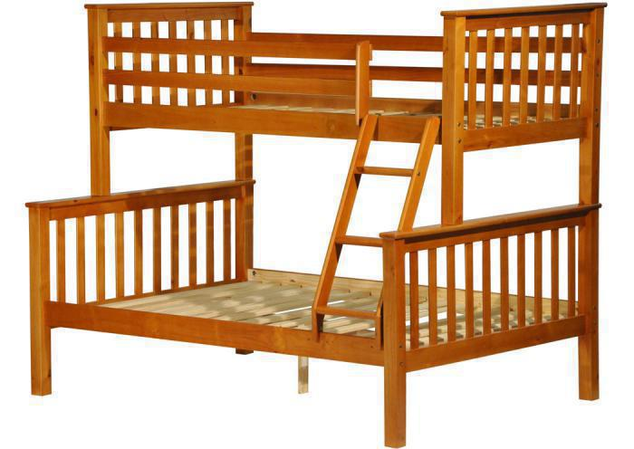 Mission Twin/Full Bunk Bed,Palace Imports