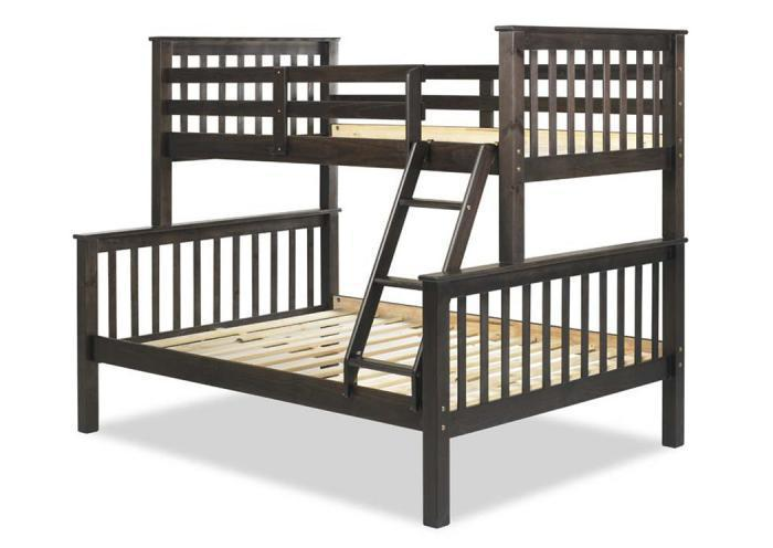 Mission Twin/Full Bunk Bed, Java,Palace Imports