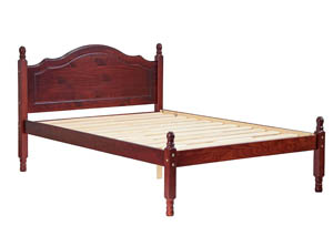 Reston Panel Bed, Full Mahogany