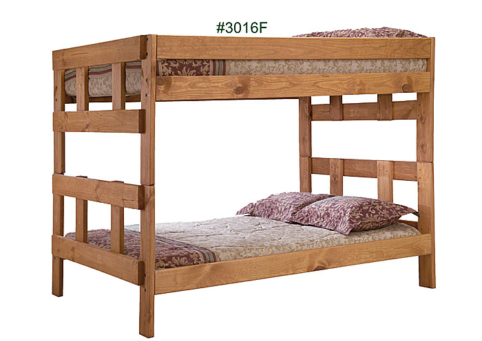 Rossie Furniture - Hammond, LA Full/Full Bunk Bed, Unfinished