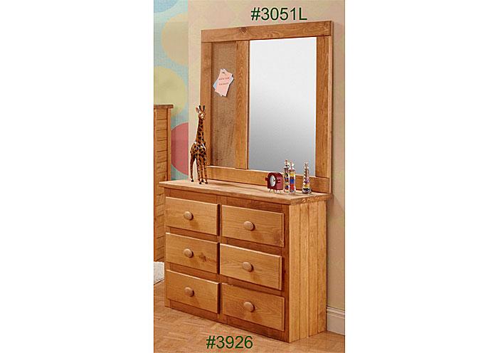Landscape Mirror, Ginger Finished,Pine Crafter Furniture