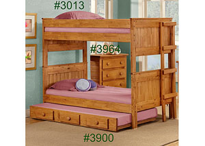 Twin/Twin Stackable Bunk Bed, Unfinished
